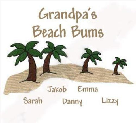 Grandpa's Beach Bums Embroidered Shirt