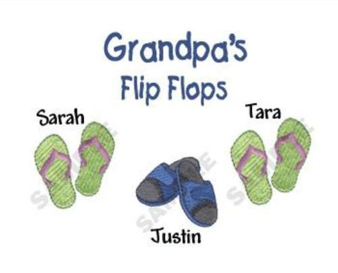 Grandpa's Flip Flops Embroidered Shirt
