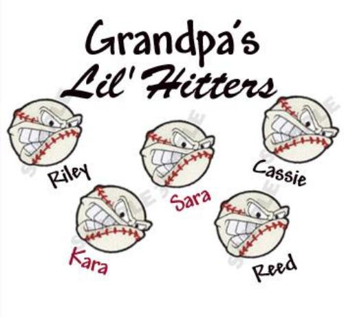 Grandpa's Lil' Hitters Embroidered Shirt