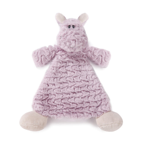 Harlow Hippo Rattle Blankie