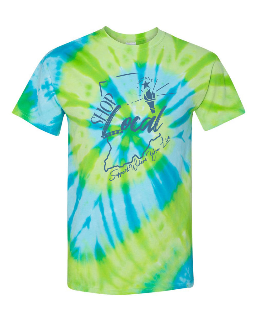 Tie Dye Shop Local Indiana Shirt