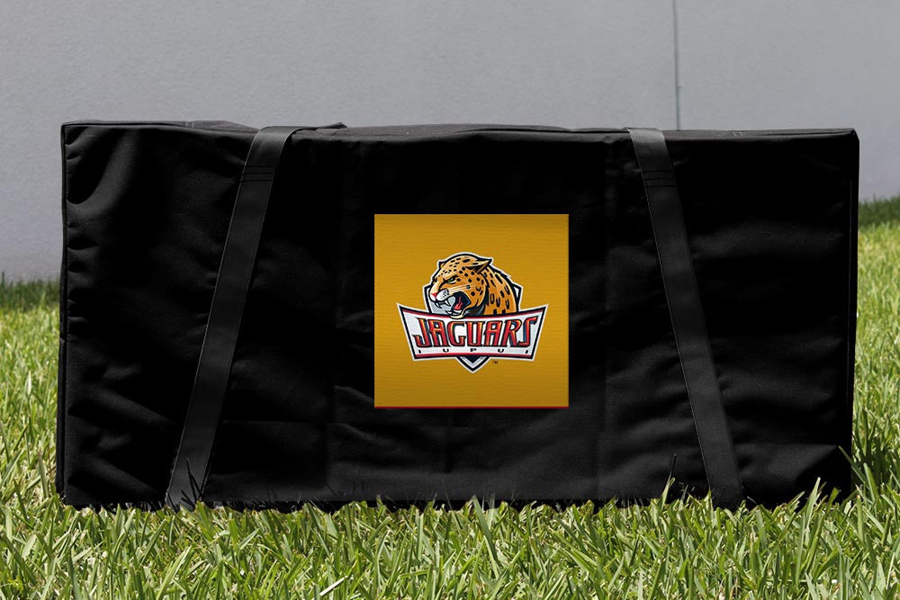 IUPUI Cornhole Boards, Custom All Weather Cornhole Bags & Carrying Case Package