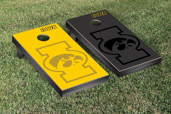 Iowa Cornhole Boards, Custom All Weather Cornhole Bags & Carrying Case Package