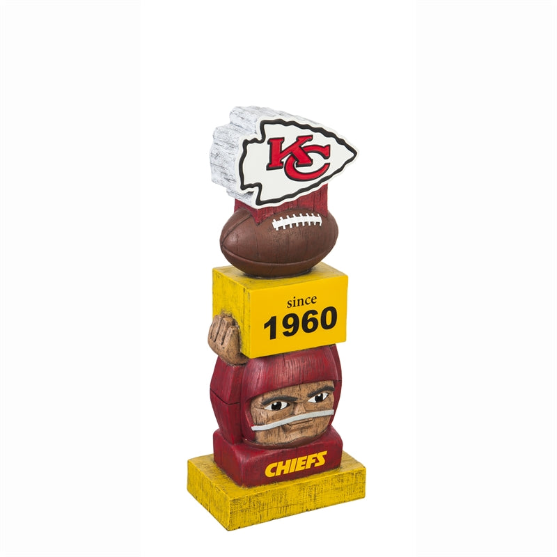 Kansas City Chiefs Vintage Football Tiki Totem
