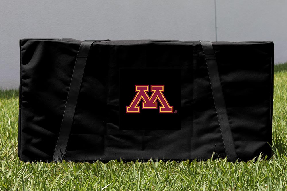 Minnesota Cornhole Boards, Custom All Weather Cornhole Bags & Carrying Case Package