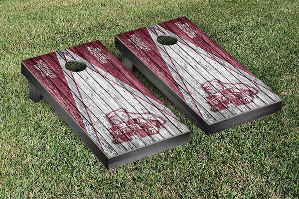 Mississippi State Cornhole Boards, Custom All Weather Cornhole Bags & Carrying Case Package
