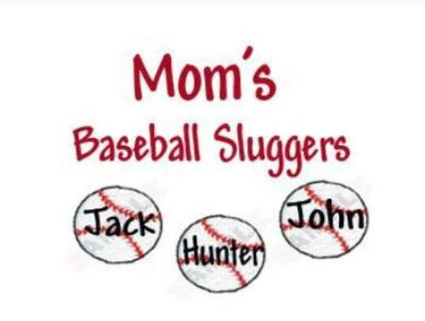 Mom's Baseball Sluggers Embroidered Shirt