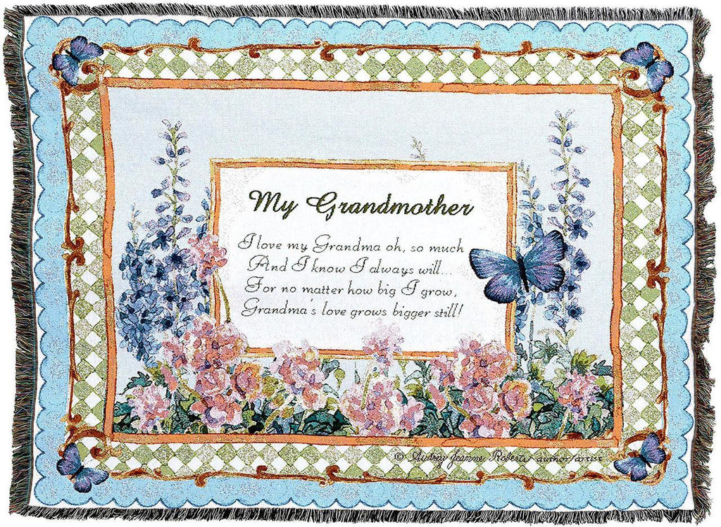 My Grandmother Gift Woven Tapestry Throw Blanket