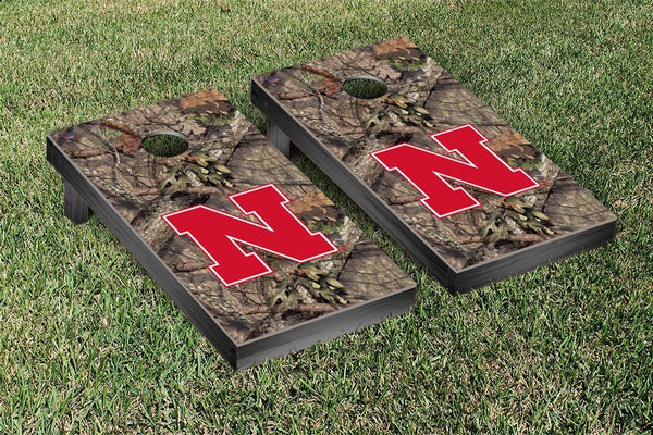 Nebraska Cornhole Boards, Custom All Weather Cornhole Bags & Carrying Case Package