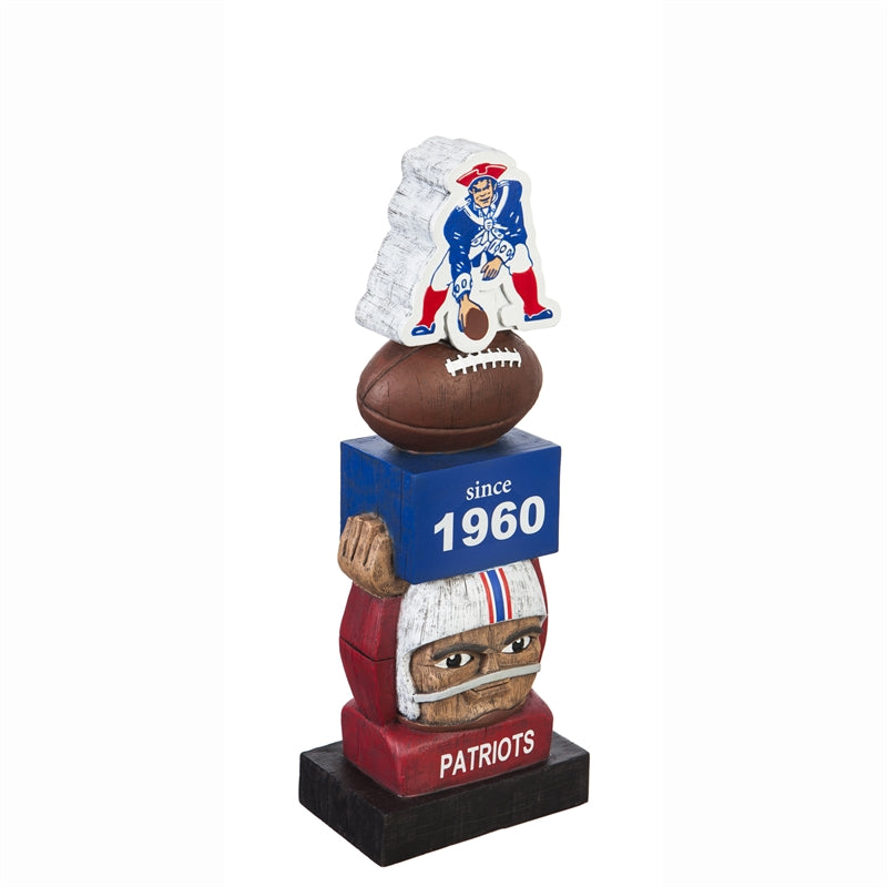 New England Patriots Vintage Football Tiki Totem