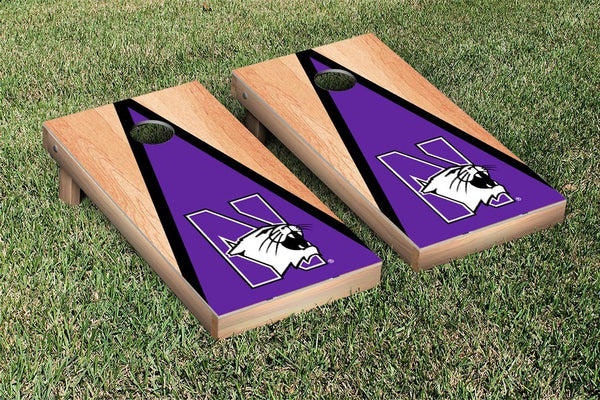Northwestern Wildcats Cornhole Boards, Custom All Weather Cornhole Bags & Carrying Case Package