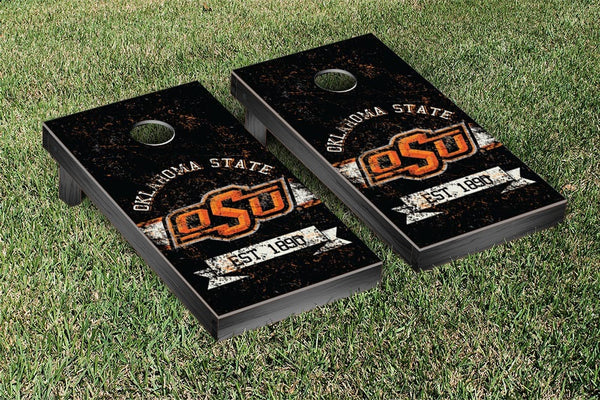 Oklahoma State Cornhole Boards, Custom All Weather Cornhole Bags & Carrying Case Package