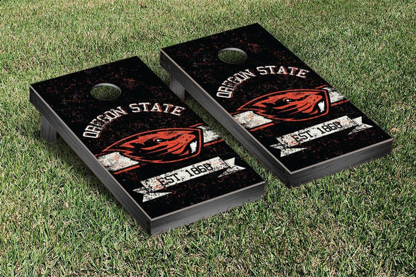 Oregon State Cornhole Boards, Custom All Weather Cornhole Bags & Carrying Case Package