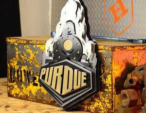 Boilermaker Train 3D Vintage Metal Art