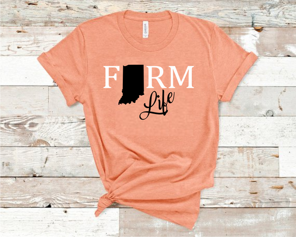 Farm Life Heather Sunset T-Shirt