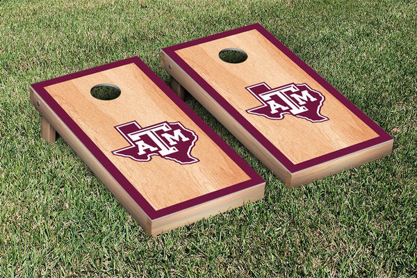 Texas A & M University Cornhole Boards, Custom All Weather Cornhole Bags & Carrying Case Package