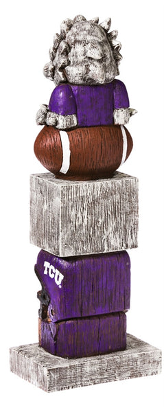 Texas Christian University NCAA Football Tiki Totem back