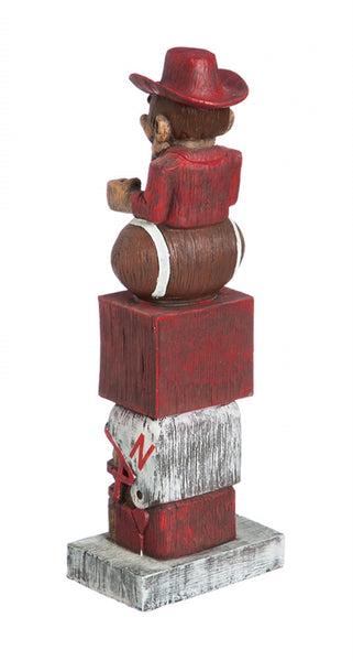 University of Nebraska NCAA Football Tiki Totem back