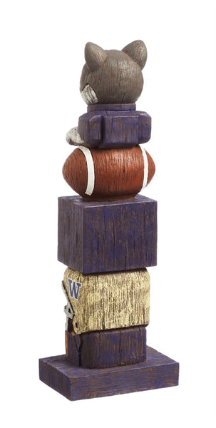 University of Washington NCAA Football Tiki Totem back