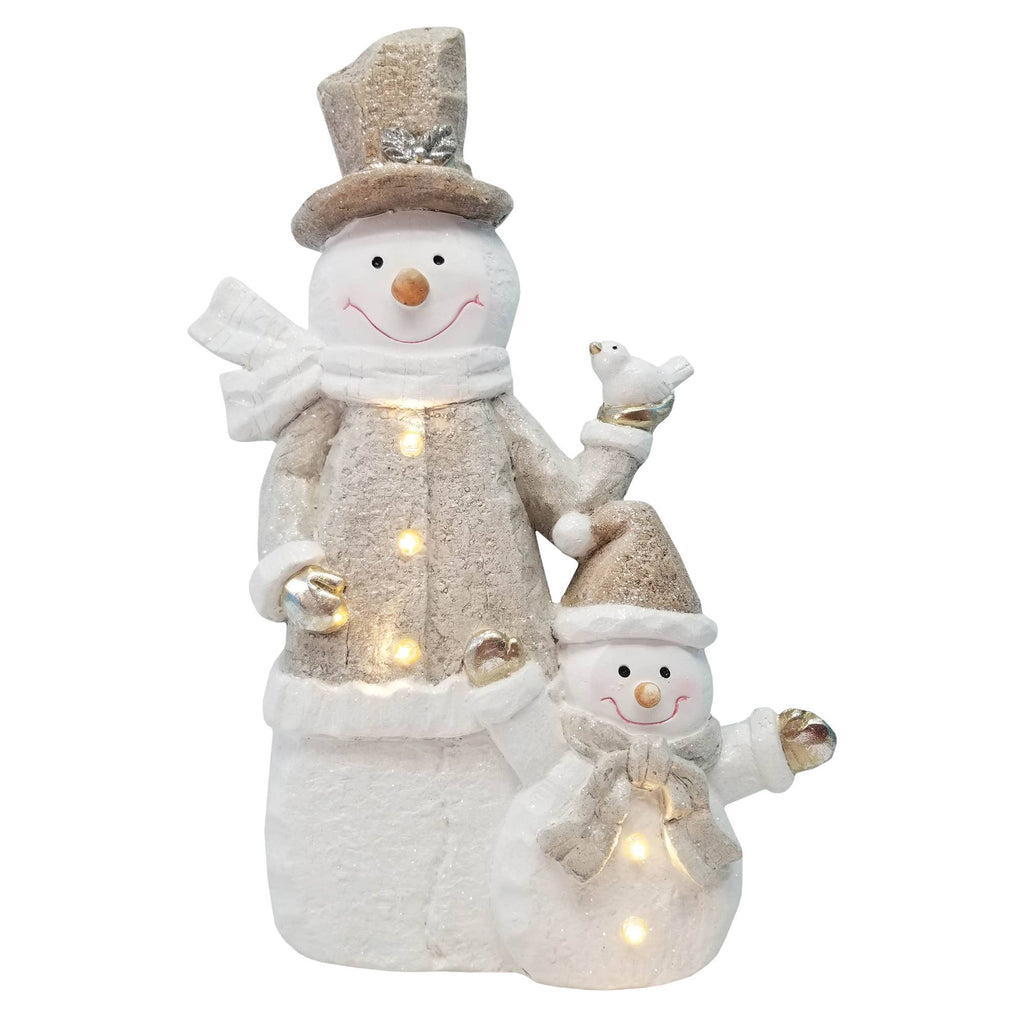 Snowmen Trimmed in Gold