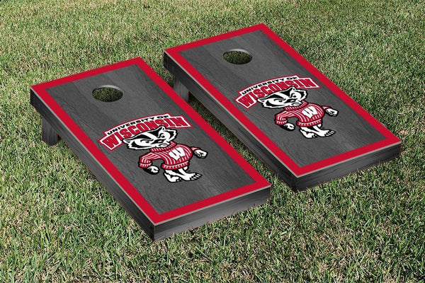 Wisconsin Badgers Cornhole Boards, Custom All Weather Cornhole Bags & Carrying Case Package