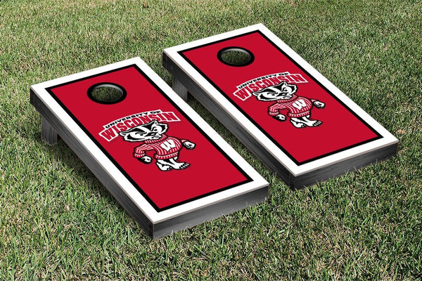 Wisconsin Badgers Cornhole Boards & Standard Cornhole Bags