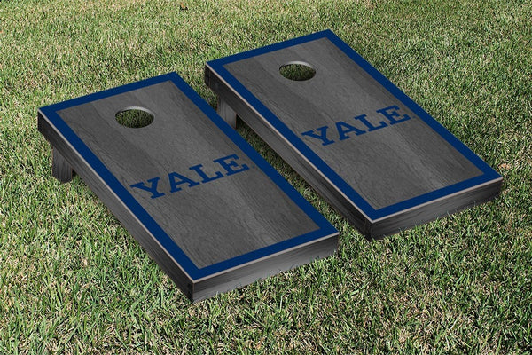 Yale University Cornhole Boards, Custom All Weather Cornhole Bags & Carrying Case Package