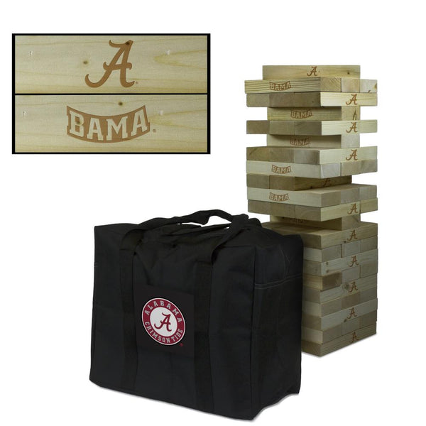Alabama Crimson College Giant Wooden Tumbler Tower