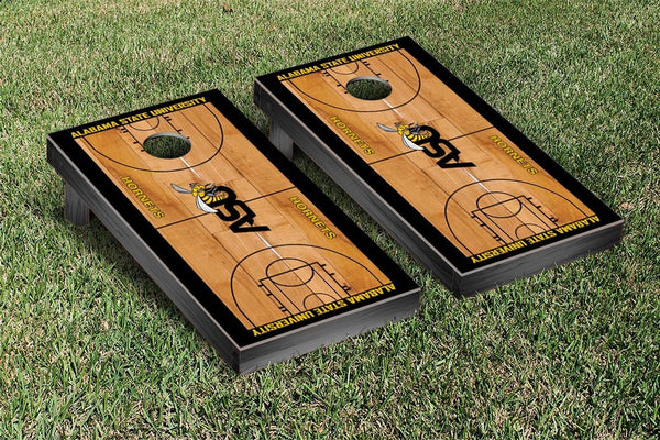 Alabama State University Cornhole Boards, Custom All Weather Cornhole Bags & Carrying Case Package