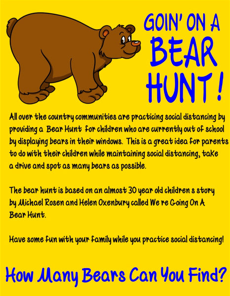 Goin' On A Bear Hunt Wood & Paint Kit