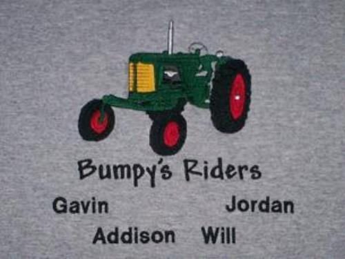 Bumpy's Riders Antique Tractor Embroidered Shirt