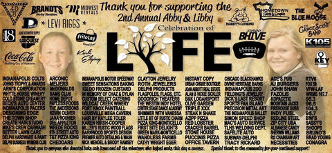 2nd Annual Abby & Libby Celebration of Life Thank You Banner