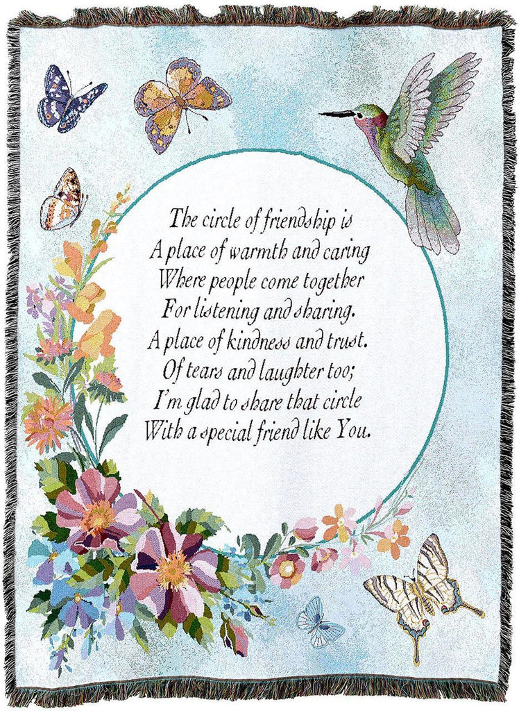 Circle of Friendship Woven Tapestry Throw Blanket