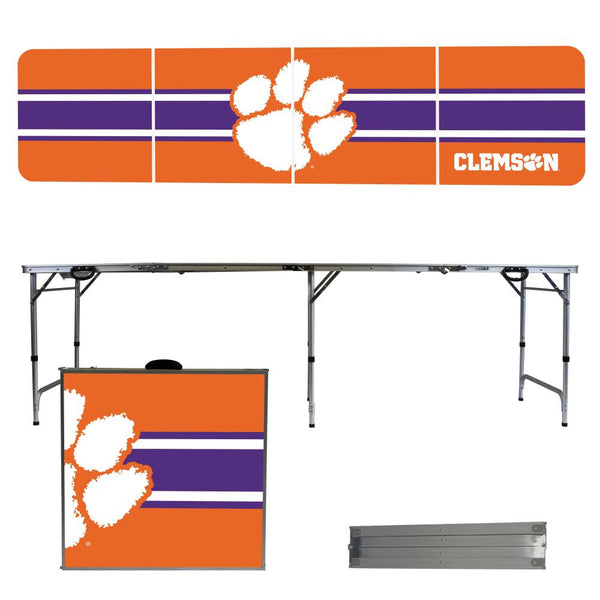 Clemson University 2' x 8' Tailgate Pong Table