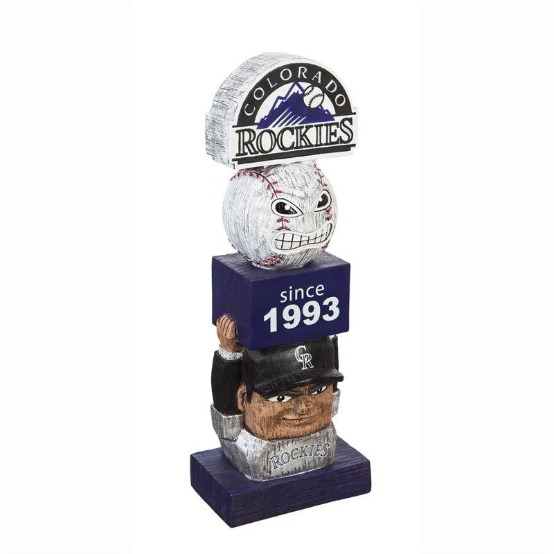 Colorado Rockies Vintage Baseball Tiki Totem
