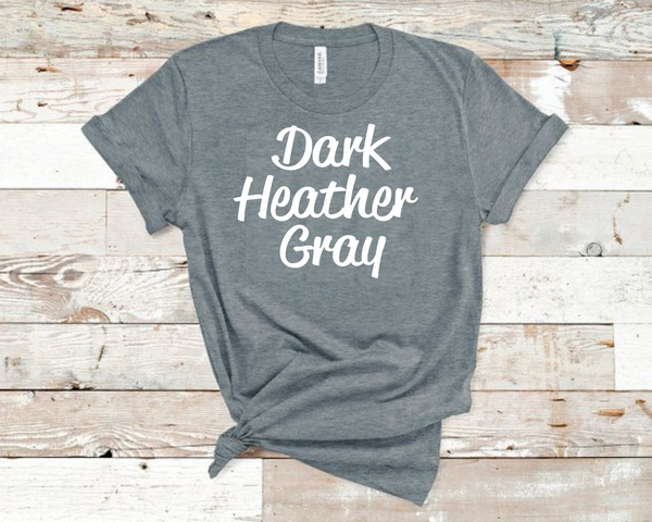 Dark Heather Gray Bella Unisex T-Shirt