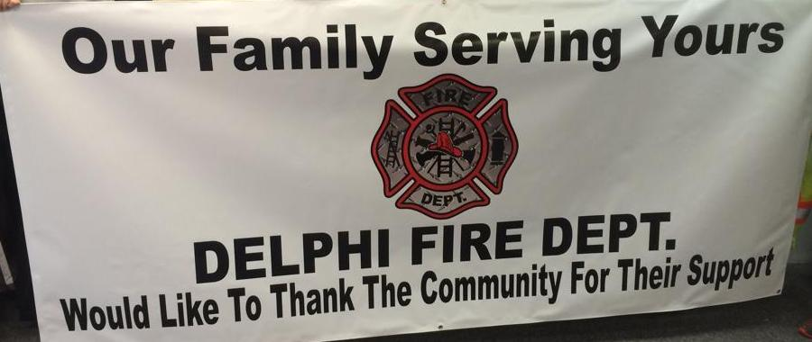 Delphi Fire Department Banner