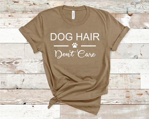 Dog Hair Don't Care Heather Tan Bella Shirt
