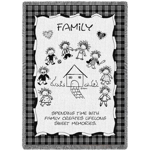 Family Memories Woven Throw Blanket