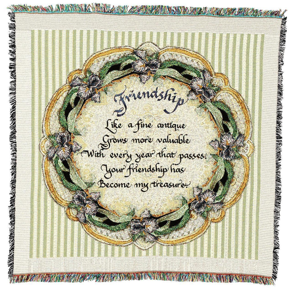 Friendship Gift for Friend Woven Throw Blanket