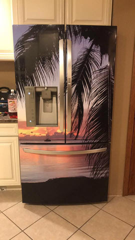 Tropical Refrigerator Wrap