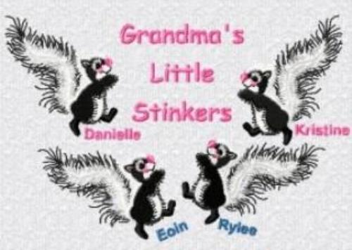 Grandma's Little Stinkers Embroidered Shirt