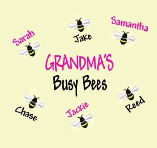 Grandma's Busy Bees Embroidered Shirt