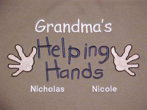 Grandma's Helping Hands Embroidered Shirt