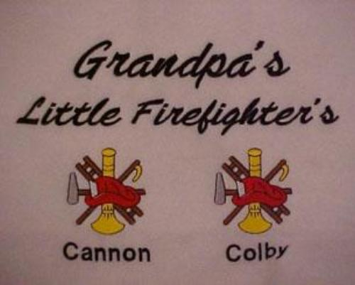 Grandpa's Little Firefighter's Embroidered Shirt
