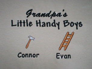 Grandpa's Little Handy Boys Embroidered Shirt