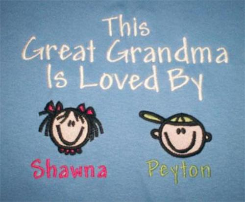 This Great Grandma Is Loved By Embroidered Shirt