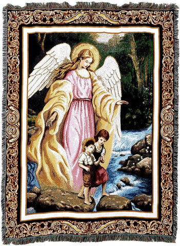 Guardian Angel Blanket | Woven Tapestry