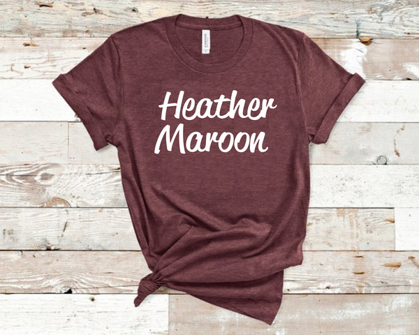 Heather Maroon Bella Unisex T-Shirt