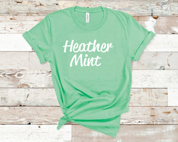 Heather Mint Bella Unisex T-Shirt